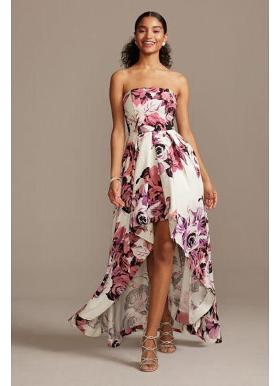 High Low Ballgown Strapless Bridal Shower Dress - Speechless