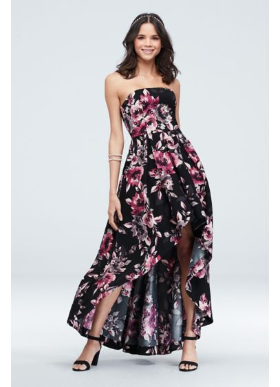 High Low A-Line Strapless Formal Dresses Dress - Speechless