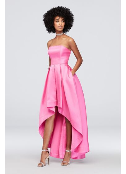 High Low Ballgown Strapless Cocktail and Party Dress - Speechless