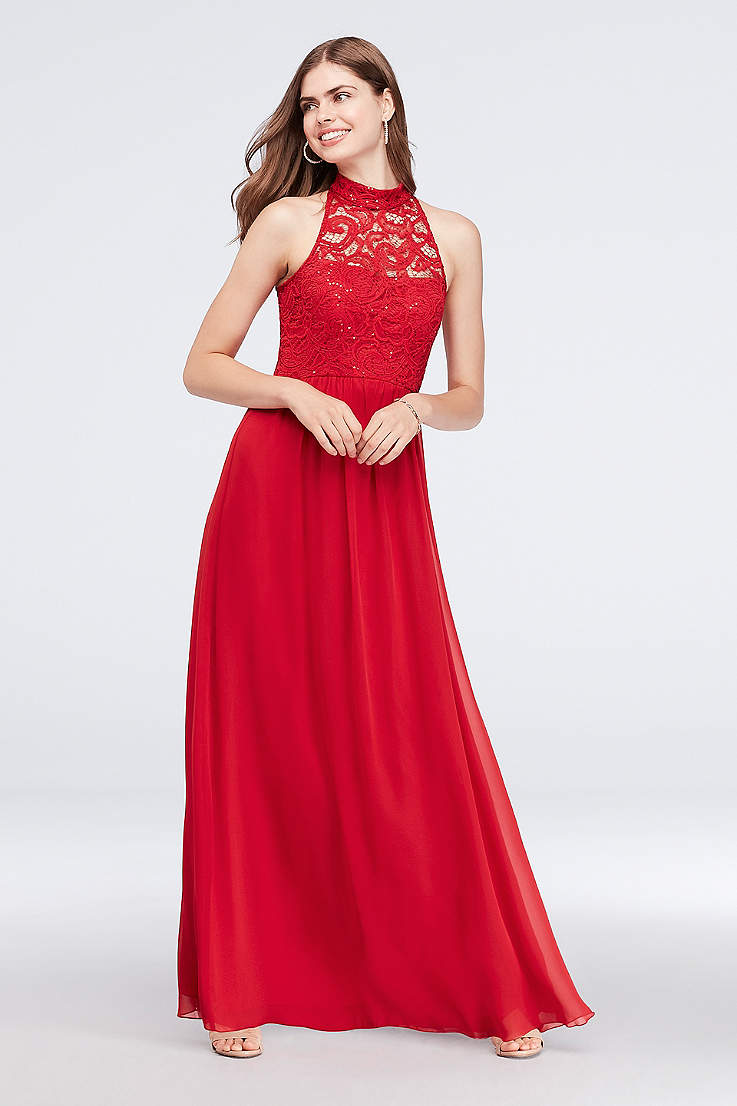 dd34f51fbae6 Red Prom Dresses, Long & Short Formal Red Gowns | David's Bridal
