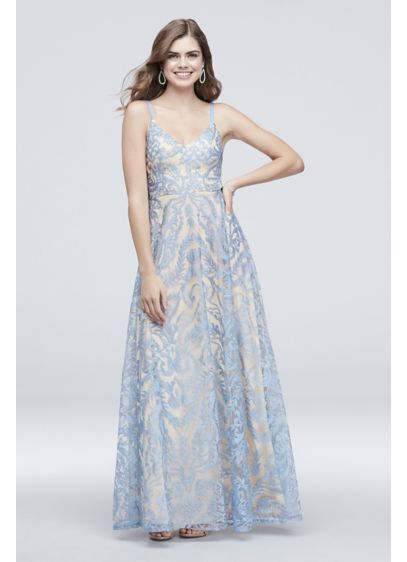 92ad4903009 Long A-Line Spaghetti Strap Cocktail and Party Dress - Speechless