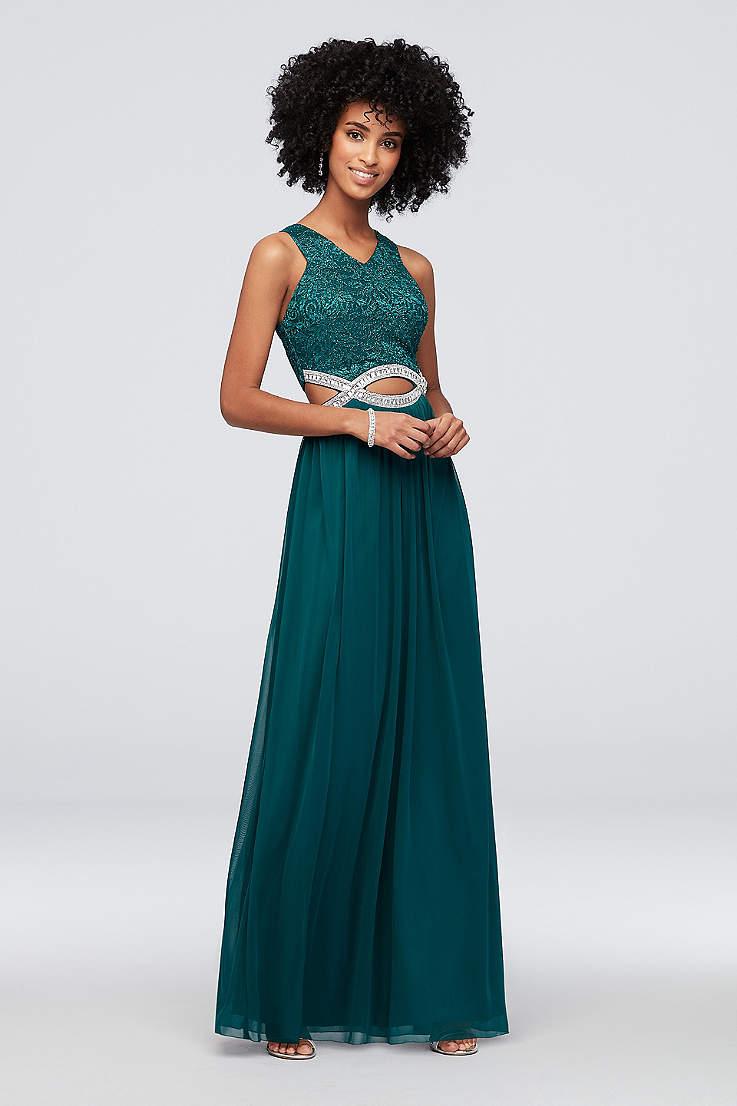 b32b18b1 Green Prom Dresses   Emerald, Dark and Light Green Gowns   David's ...