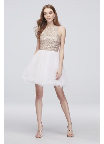 Short Ballgown Halter Bridal Shower Dress - Speechless