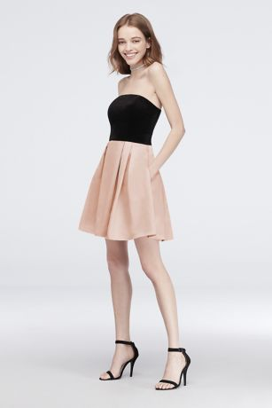 Pleated Short Dress