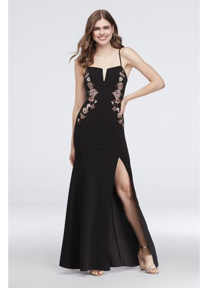 Long Sheath Spaghetti Strap Cocktail and Party Dress - Speechless