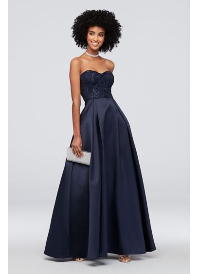 Long Ballgown Strapless Cocktail and Party Dress - Speechless
