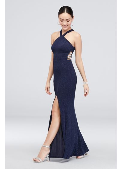 Long Sheath Halter Cocktail and Party Dress - Speechless