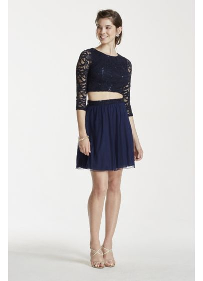 Short A-Line 3/4 Sleeves Cocktail and Party Dress - Speechless