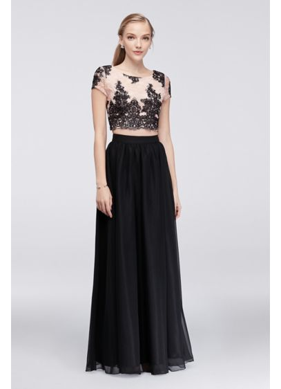 Long 0 Cap Sleeves Cocktail and Party Dress - Speechless