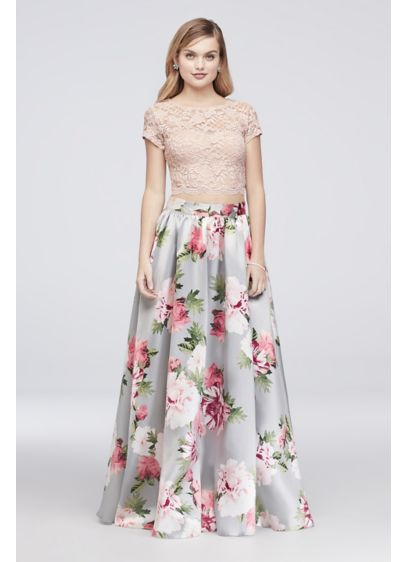 Long Ballgown Cap Sleeves Cocktail and Party Dress - Speechless