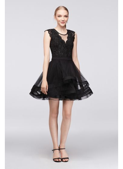 Short Ballgown Cap Sleeves Cocktail and Party Dress - Speechless