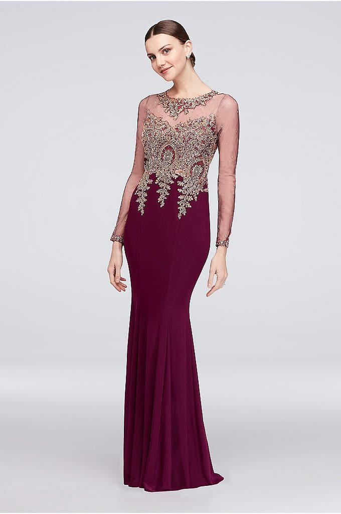 Long Sheath Sleeves Formal Dresses Dress Marina