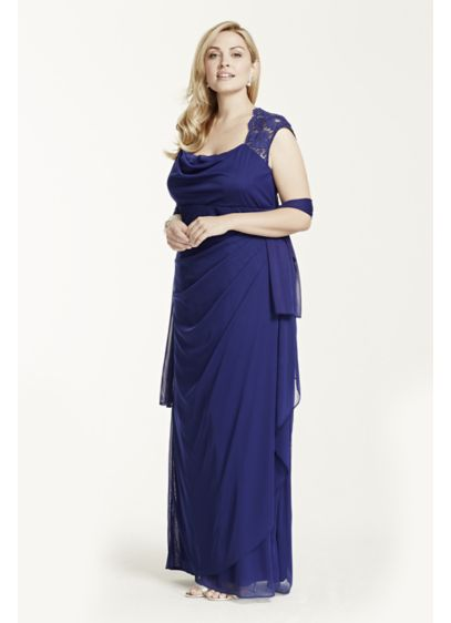 Long Sheath Cap Sleeves Cocktail and Party Dress -