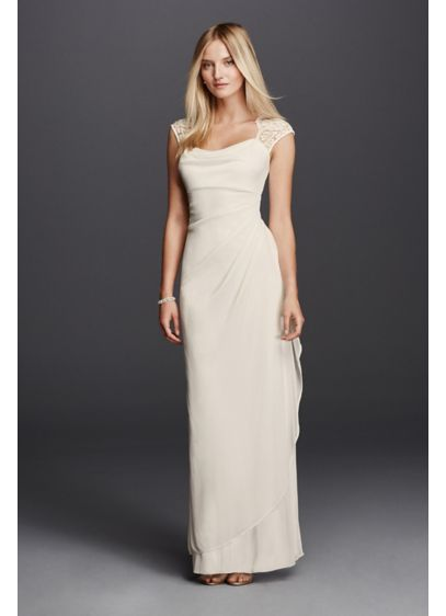 Long Sheath Casual Wedding Dress -