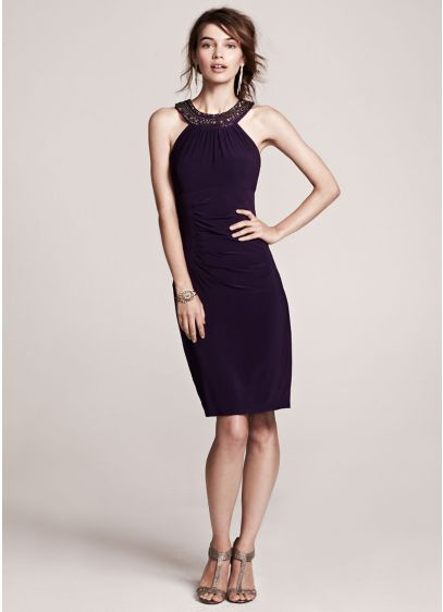 Short Sheath Halter Cocktail and Party Dress - Xscape