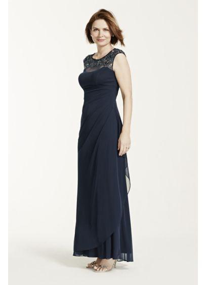 Long Sheath Cap Sleeves Formal Dresses Dress -