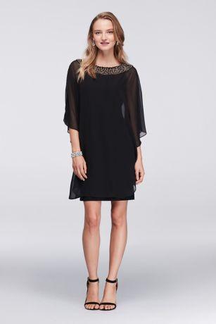 Black Chiffon Cocktail Dresses