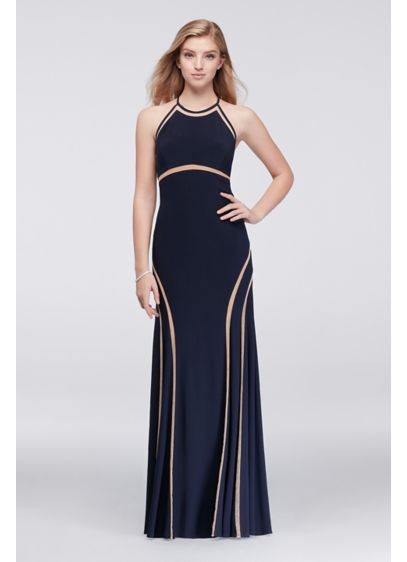Long Mermaid/ Trumpet Halter Formal Dresses Dress - Xscape