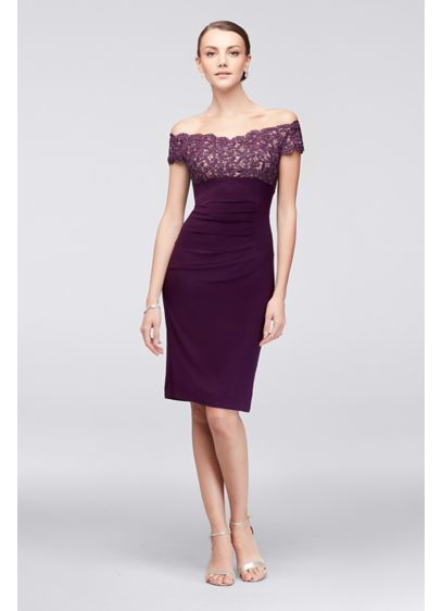 Short Sheath Off the Shoulder Cocktail and Party Dress - Xscape