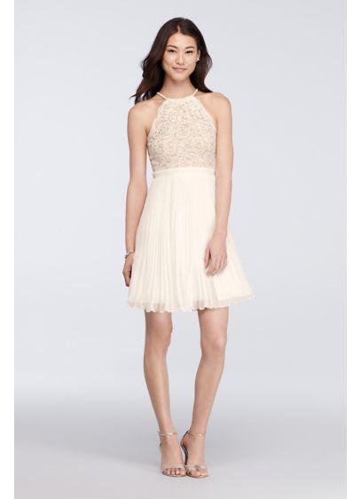Short A-Line Halter Cocktail and Party Dress - Xscape