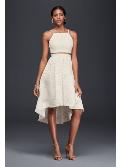 High Low Skirt Yd7634be Short A Line Beach Wedding Dress Db Studio