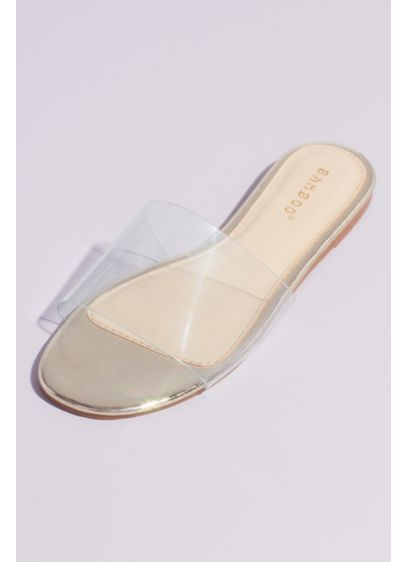 Bamboo Yellow (Clear Strap Slide Sandal)