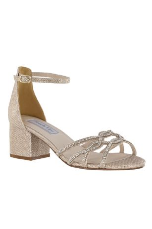 1a256be395 Touch Ups Grey;Ivory Sandals (Shimmery Block Heel Sandals with Strappy Vamp)