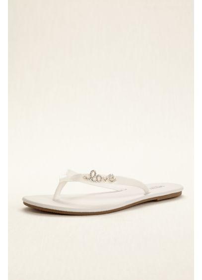 David's Bridal White (Zoey Flip Flop)