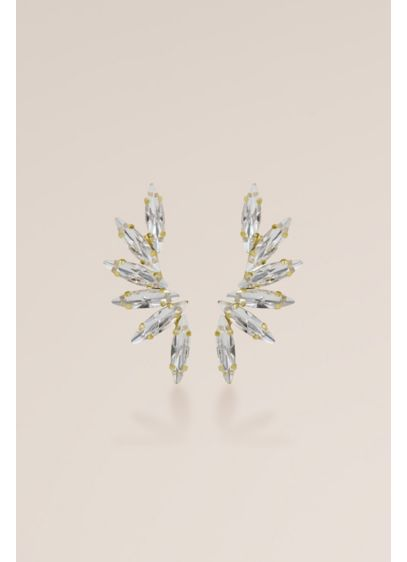 Swarovski and Sterling Marquise Cascade Earrings - Wedding Accessories
