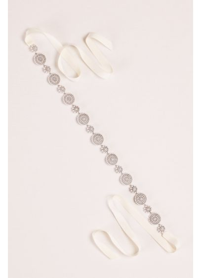 Pearl and Crystal Circles Sash - Wedding Accessories