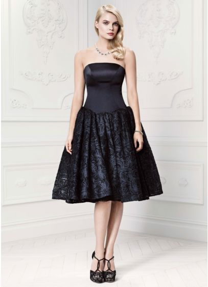5ac7541d Short Black Soft & Flowy Truly Zac Posen Bridesmaid Dress
