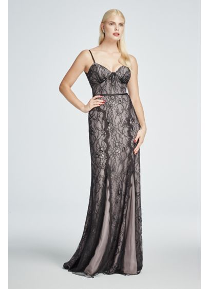 Long Sheath Spaghetti Strap Cocktail and Party Dress - Truly Zac Posen