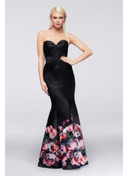 Long Mermaid/ Trumpet Strapless Cocktail and Party Dress - Truly Zac Posen