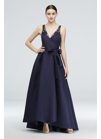 High Low Blue Soft & Flowy Truly Zac Posen Bridesmaid Dress