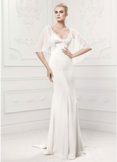Long Sheath Glamorous Wedding Dress - Truly Zac Posen