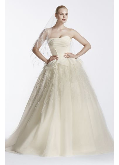 Long Ballgown Modern Wedding Dress - Truly Zac Posen