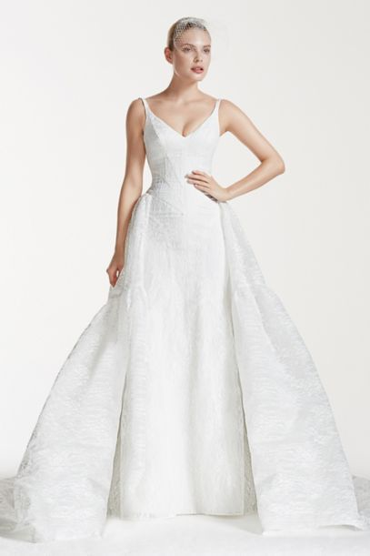 zac posen wedding dress truly zac posen tank bonded lace wedding dress david s 1530