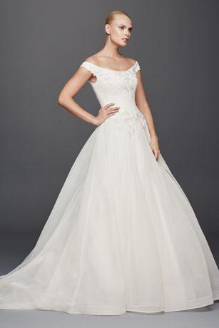 Truly Zac Posen Off the Shoulder Wedding Dress | David\'s Bridal