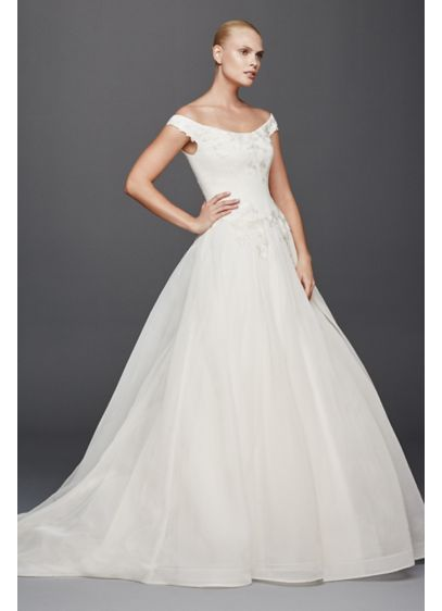 Truly zac posen off the shoulder wedding dress davids bridal long ballgown modern chic wedding dress truly zac posen junglespirit Image collections