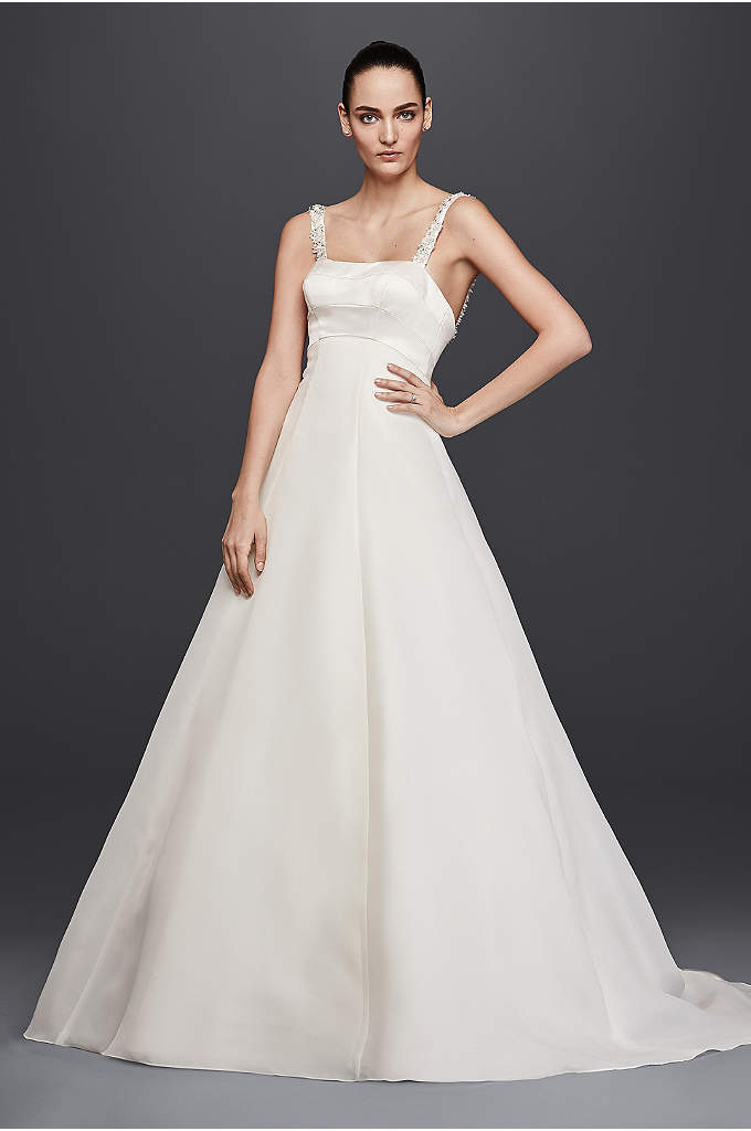 Truly Zac Posen Satin A-Line Wedding Dress - Float down the aisle in an A-line wedding