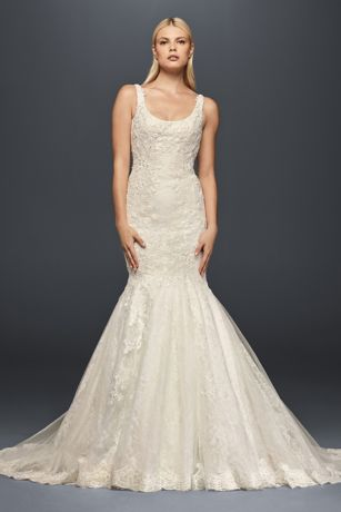Truly zac posen scoop neck lace wedding dress davids bridal junglespirit Choice Image