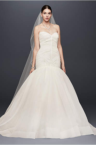 Truly Zac Posen Pleated Organza Wedding Dress