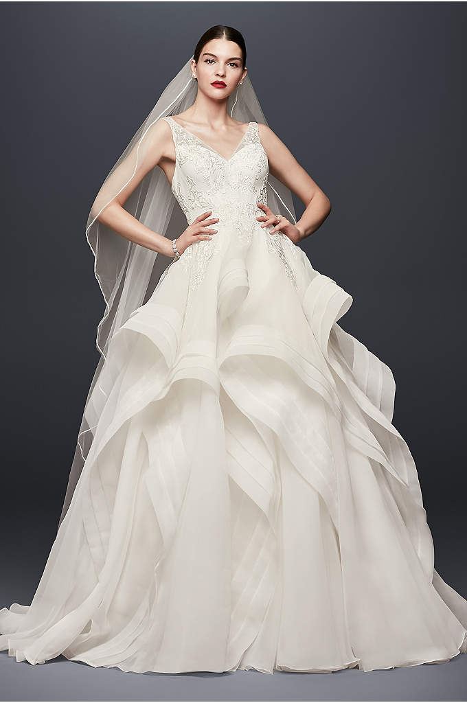 Truly Zac Posen Horsehair Tier Skirt Wedding Dress - Inspired by the runway looks of Zac Posen's
