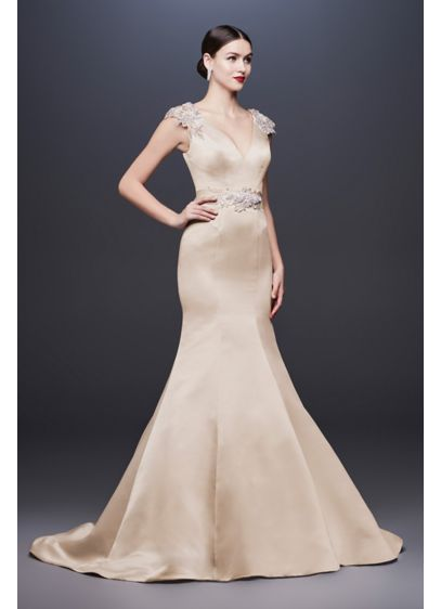 Long Mermaid/ Trumpet Formal Wedding Dress - Truly Zac Posen
