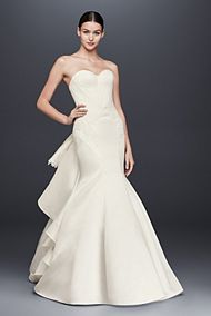Truly Zac Posen Strapless Satin Wedding Dress