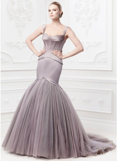 Long Mermaid Trumpet Glamorous Wedding Dress Truly Zac Posen
