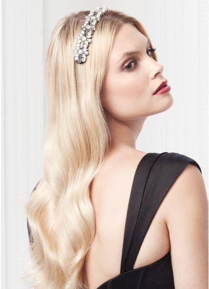 Crystal Geometric Stretch Headband - Wedding Accessories