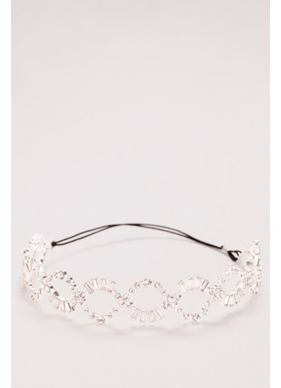 Baguette Crystal Braided Headband - Wedding Accessories