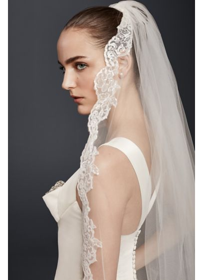 Cathedral Veil with Sequin Lace - Wedding Accessories