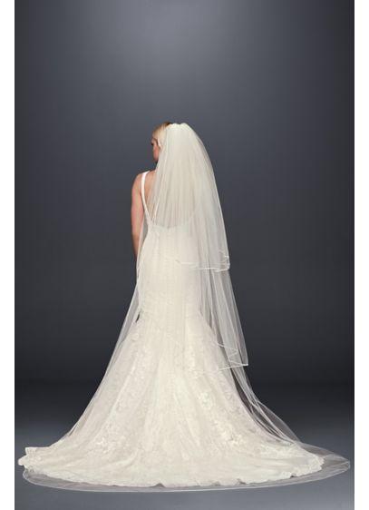 Truly Zac Posen Three-Tier Cathedral Veil - Wedding Accessories
